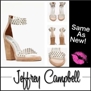 Jeffrey Campbell Nude Spiked Lucite Heels